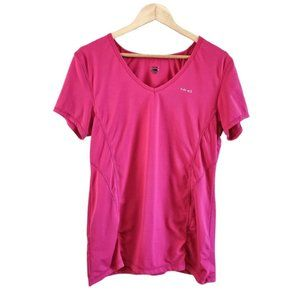 Hind Athletic Short Sleeve Top Pink XL